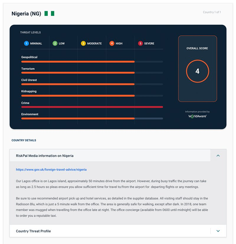 WorldAware-RiskPal-Country-Profile-Risk-Security